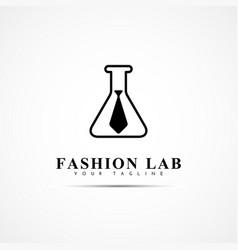 fashion lab logo vector image vector image