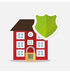 home security protection shield padlock vector image vector image