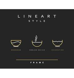 Icon bowls for food Design menu restaurant and bar vector image