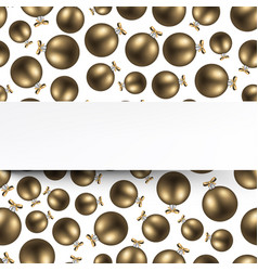 New year background with golden balls vector