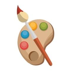 paint brush color palette design vector image vector image