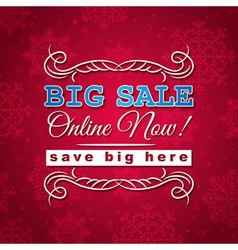 red christmas background and sale offer vector image