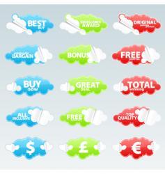 retail retro peeling stickers vector image vector image