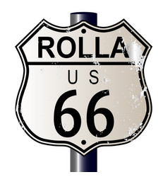 rolla route 66 sign vector image vector image