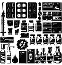 Set of medicament symbols vector image