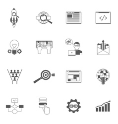 Web icons black set vector