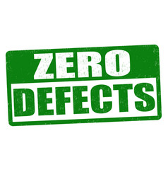 zero defects sign or stamp vector image vector image