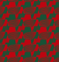 Retro 3D red and green zigzag cut ribbons vector image