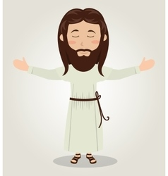 Jesus christ prayer open arms design vector