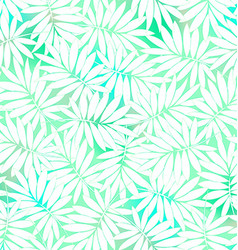 Tropical white and green leaves in a seamless vector image