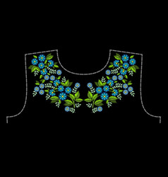 A pattern for embroidery the neck of clothing vector
