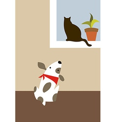 The dog and cat vector