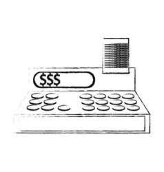 Cash register icon image vector