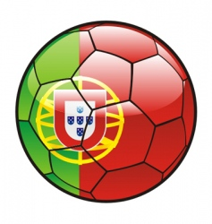 Flag of portugal on soccer ball vector