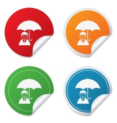 Human insurance sign icon person symbol vector