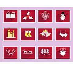 Set of elements for christmas and new year vector