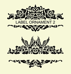 label ornament 2 vector image
