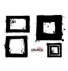 grunge square collection vector image