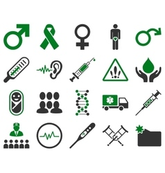 Medical bicolor icons vector
