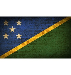 Flags solomon islands with dirty paper texture vector