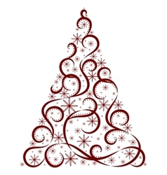 Christmas card xmas tree vector
