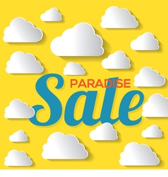 Paradise sale with white clouds vector