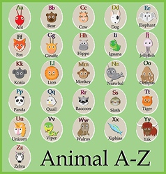 animal a to z vector image