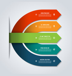 arrow infographic template with 5 options vector image vector image