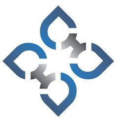 Blue silver logo vector