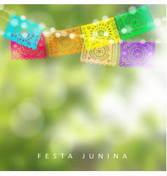 Brazilian festa junina or midsummer greeting card vector