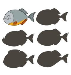 Cartoon piranha vector