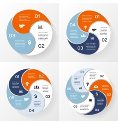 circle infographics set Template for diagram graph vector image