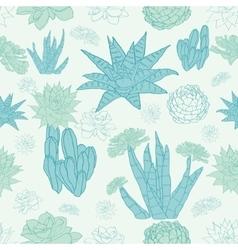 Desert cacti seamless pattern vector