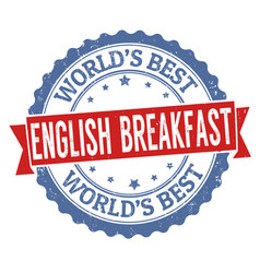 english breakfast sign or stamp vector image