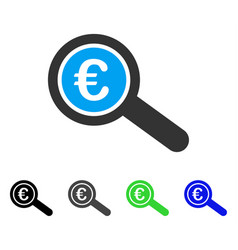 Euro financial audit flat icon vector