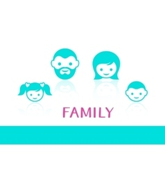 family members vector image vector image