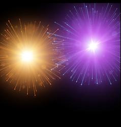 festive colorful fireworks background vector image vector image