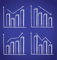 graphic chart in doodle style vector image