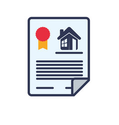 Home insurance contract vector