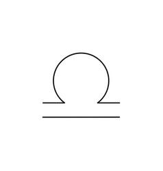 libra line icon vector image