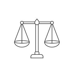 Libra thin line icon vector
