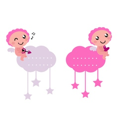 little cupids vector image vector image