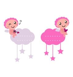 little cupids vector image