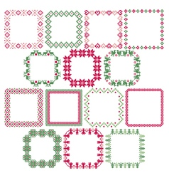 nordic square frames vector image