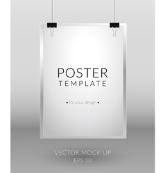 Poster template on light background vector image vector image