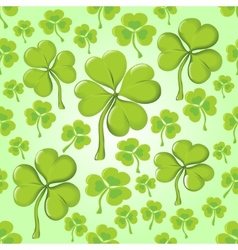 Seamless texture of clover vector image