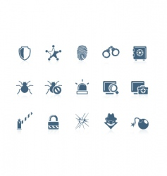 Security icons piccolo series vector