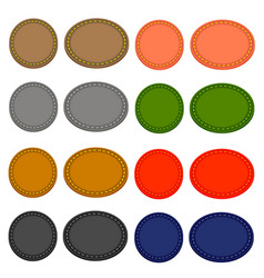 set of colorful circle icons vector image vector image