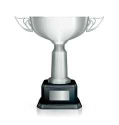 Silver Racing trophy vector image