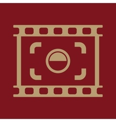 The viewfinder icon Focusing and photography vector image vector image